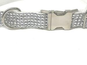 White Rhinestone Dog Collar For Girls, Boys, Fancy, Bling, Sparkle Dog Collar, F