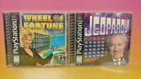 Jeopardy! + Wheel of Fortune  - Playstation 1 2 PS1 PS2 Game Show Lot Complete