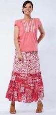 Regular Size Floral Mid-Calf Skirts for Women