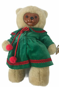 """Robert Raikes Kathie Wood Face 16"""" Teddy Bear by Applause W/ Stand"""