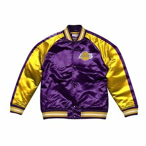 [19007P] Mitchell & Ness Color Blocked Satin Jacket Los Angeles Lakers