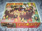 Vintage Fort West Cowboys & Indians W/Box Tim Mee Toy #12700 Lots of Extras NICE