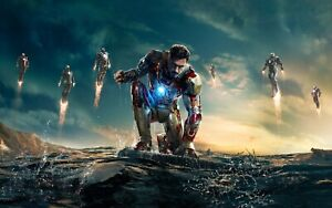 Iron Man canvas Wall Art Picture Print 20x30inch Ready To Frame