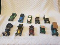 Vintage matchbox Lesney models of yesteryear 10 x cars Y12  y4 y2 y . No.2,