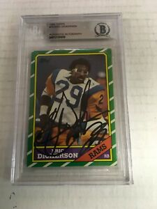 1986 Topps Eric Dickerson signed card Beckett COA Slabbed free shipping