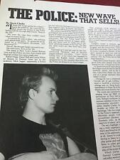 1979 Vintage 3 Page Print Article/Photos The Police: New Wave That Sells Sting