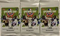 2021 Topps Baseball Opening Day - LOT OF 3 - Factory Sealed 7 Card Hobby Packs