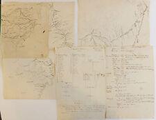 Notes et cartes manuscrites relatives à des ouvrages sur la Chine, XVIIIe-XIXe