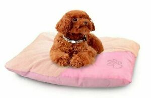 Pink Dog Cushion Cat Bed Pillow Removable Waterproof & Fleece Cover Zip Opening