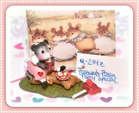 ❤️Wee Forest Folk M-244z Possum's Pizza Party Valentine PINK SPECIAL Color❤️