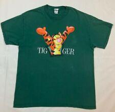 Disney Mens T Shirt Winnie The Pooh Tigger Size XL Green Short Sleeve