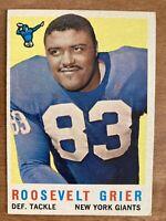 1959 Roosevelt Grier New York Giants Football Card #29