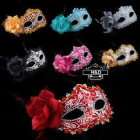 Sexy Venetian Princess Flower Masquerade Costume Dance Party Halloween Eye Mask