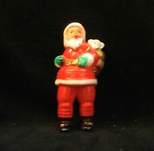 Vintage Plastic Santa Claus with Lamb and Cat in His Santa Gift Bag