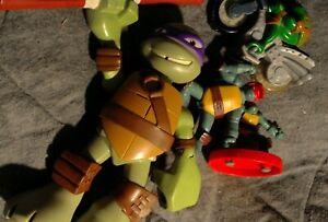 MIXED LOT of FOUR (4) Action Figures TEENAGE MUTANT NINJA TurtlesTMNT COWABUNGA