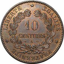 O282 Rare 10 Centimes Cérès 1873 A Paris SPLENDIDE > Faire offre