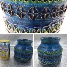 Vintage Bitossi Rimini Blue Pot Vase Aldo Londi Raymor Italian Pottery 60s 70s