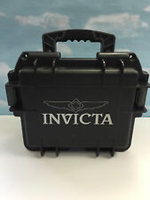 INVICTA BLACK THREE SLOT IMPACT DIVER'S COLLECTOR BIG DURABLE WATCH CASE BOX NEW