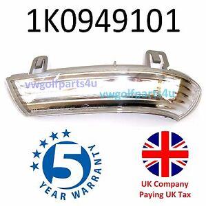 VW Wing Mirror Indicator Turn Signal + Bulb MK5 Golf Left Side 1K0949101 N/S
