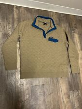 Mena NWOT Patagonia Pullover Quilted Tan Teal XL extra Large Snap T