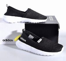 Adidas Women's Cloudfoam Lite Racer Slip-On Running Shoes - Black New!