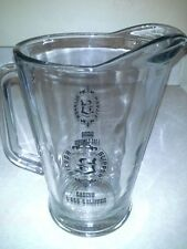 Silver Slipper Casino 60 ounce Glass Beer Pitcher