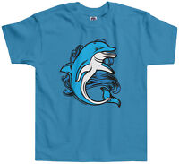 Threadrock Kids Dolphin Toddler T-shirt Fish Animal Wildlife Water