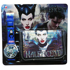 Maleficent Children's Watch Wallet Set Boys Girls Christmas Gift Kids Xmas New
