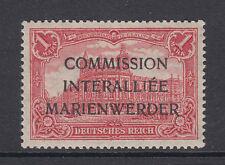 Marienwerder Mi 21.II.a MLH. 1920 1m Berlin GPO w/ 3-line ovpt, Cert.