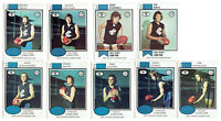 1974-75-76-78-79 SCANLENS VFL footy cards CARLTON BLUES - you pick - VGC-EXC