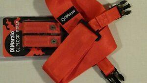 DiMarzio DD2200 Cliplock Nylon Quick Release Straps in RED