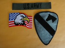 US ARMY Pocket Tape + USA EAGLE Flag Patch + us 1st CAVALRY Division patch