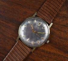 Vintage HAMILTON 10K RGP Round Case Manual Wind Watch Lizard Band