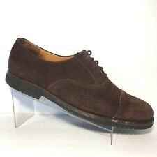 Cole Haan Oxford Cap Toe Brown Suede Leather Lace Up Shoes Mens Size 11.5 D USA
