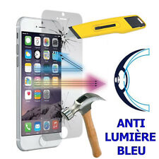 2 FILMS SCREEN for Apple iPhone 6 Plus/ 6s plus TEMPERED GLASS ANTI LIGHT BLUE