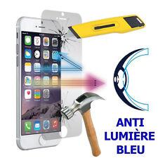 """2 FILMS ÉCRAN pour Apple iPhone 7 4.7"""" VERRE TREMPÉ ANTI LUMIÈRE BLEU"""