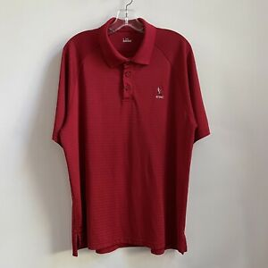Under Armour New York Athletic Club NYAC Polo Shirt Golf Tech Red L