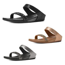 Women's FitFlop Banda Crystal Suede Slide Sandals