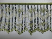 """5 TO 5.5 """"LONG- BEADED- FRINGE- TRIM- EXCELLENT-QUALITY"""