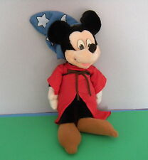 "Applause Disney Mickey Mouse Fantasia Sorcerer 17"" Doll Toy Plush Stuffed Wizard"