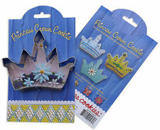 NEW Ann Clark Tin Princess Crown Cookie Cutter w/ Cookie & Frosting Recipe USA