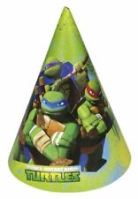 6 Teenage Mutant Ninja Turtles TMNT Birthday Party Paper Cone Hats