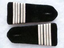Epaulettes anciennes Officier COLONEL galon argent velours noir pattes épaule FR
