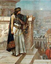 Zenobia Queen Of Palmyra & Roman Hostage Egypt Painting Real Canvas Art Print
