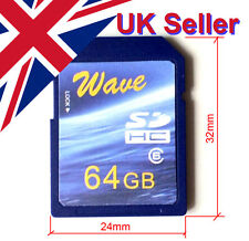 Big Old Size Full Capacity Wave 64GB SD Card (32x24mm) 72/29 MB/s R/W