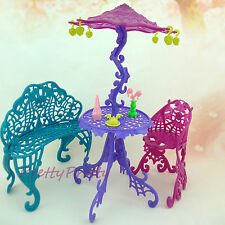 Lot in 1 Leisure Chair Table Sunshade Furniture With Acces For Monster High Doll