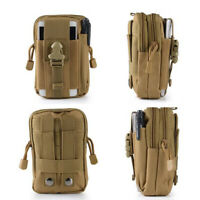 HO_ Outdoor Survival Molle Pouch Tactical Waist Pack Emergency Tool Bag Eager