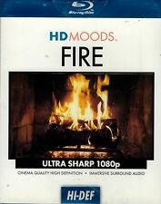 HD MOODS FIRE: VIRTUAL HOLIDAY CHRISTMAS & GOTHIC HALLOWEEN FIREPLACE SCENES OOP
