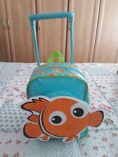Rare Disney Store Nemo Childs Wheel Along Suutcase/back pack