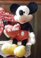 New listing 16 Inch Vintage Mickey Mouse Disney Be Mine Plush Toy For Your Valentine